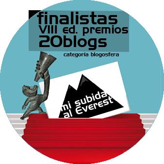 Mi subida al Everest, finalista de la VIII Edición de los Premios 20Blogs